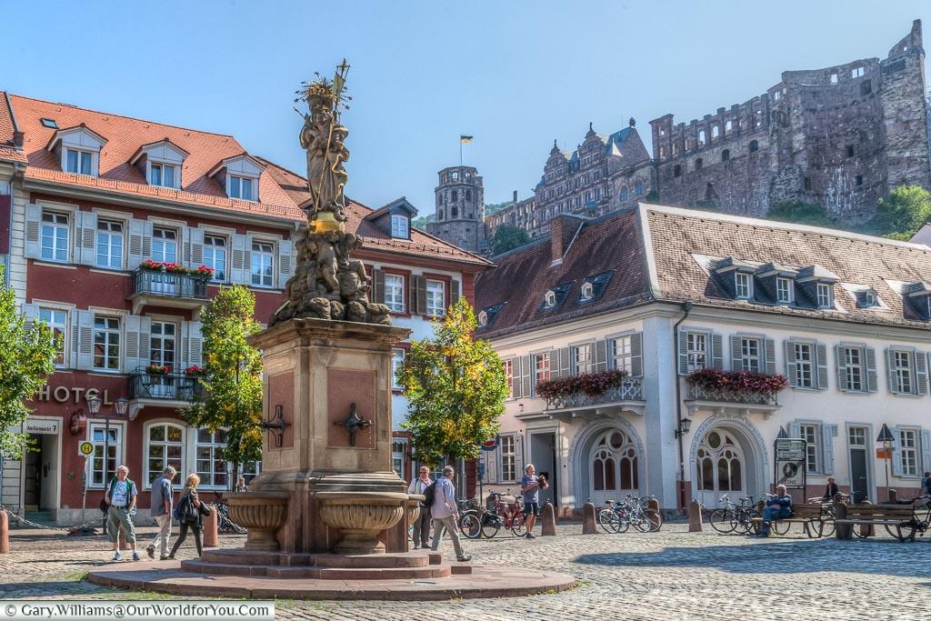 Kornmarkt, Schloss Heidelberg, castle, Heidelberg, Baden-Wurttemberg, Germany
