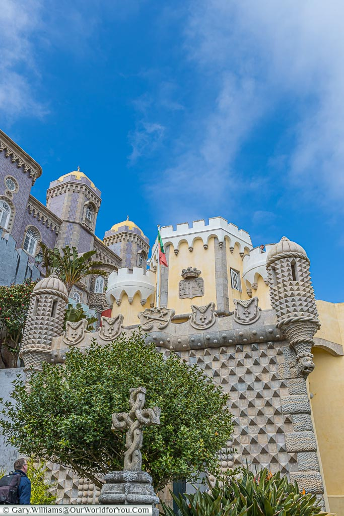 Looking up at the Palace of Pena, UNESCO, Sintra, Portugal