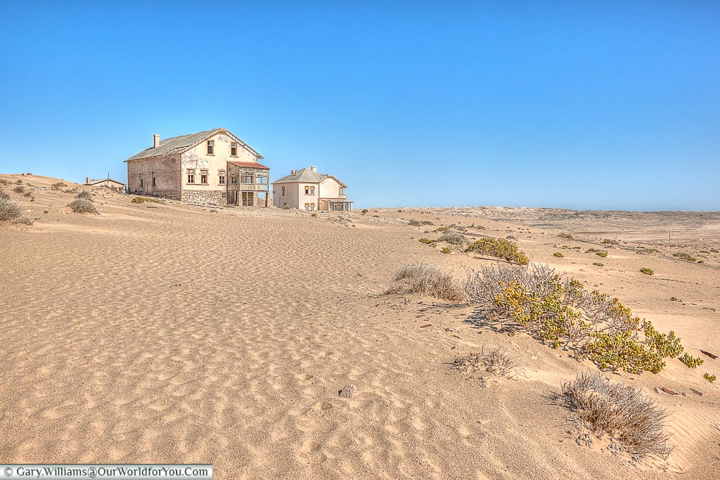 On the outskirts of town, Kolmanskop, Namibia