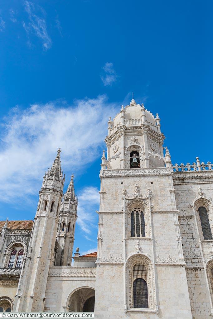 Outside, upclose, view of Mosteiro dos Jerónimos, UNESCO, Lisbon, Portugal