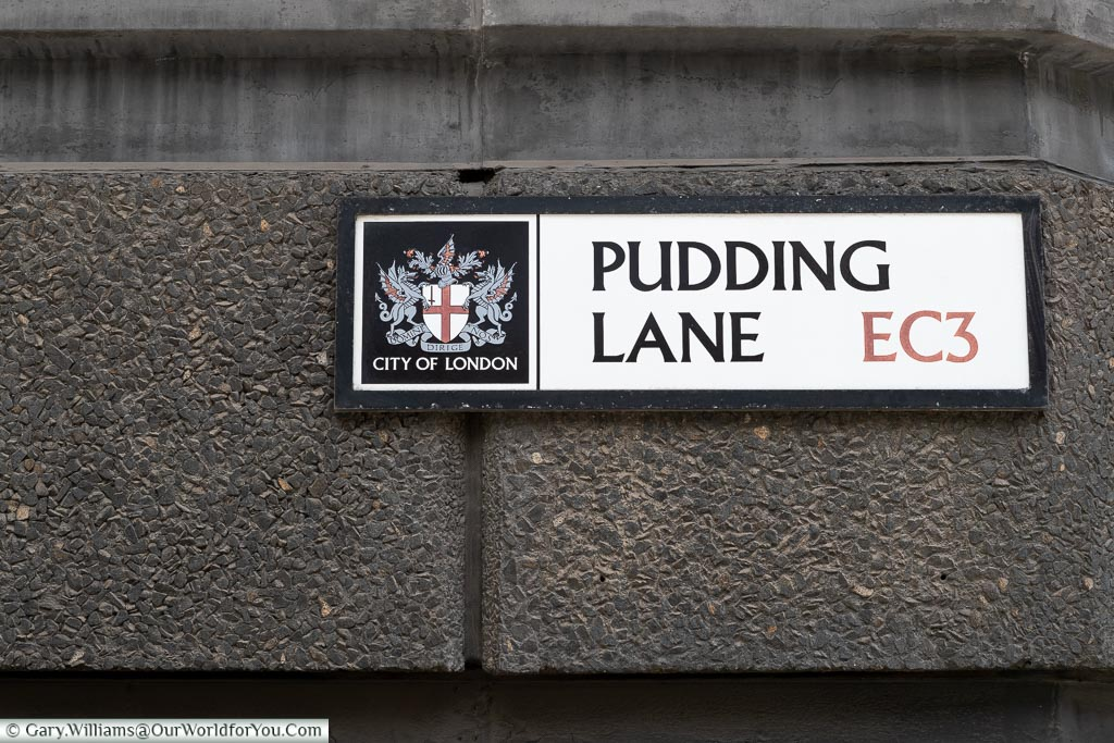 Pudding Lane, Streets of London, London, England, UK