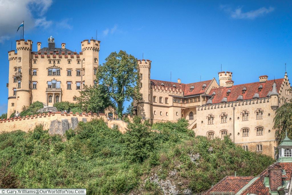 Schloss Hohenschwangau full view,Hohenschwangau, Bavaria, Germany