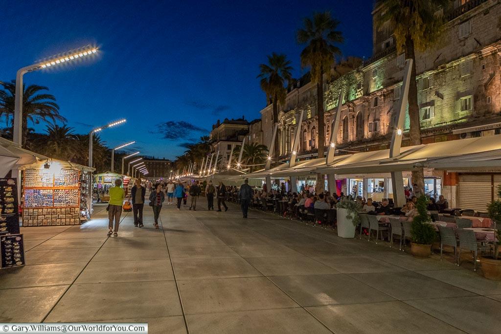 Strolling along the Riva in Split, Croatia