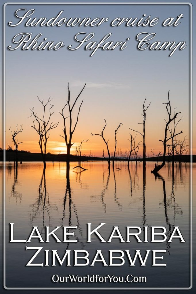 Sundowner cruise at Rhino Safari Camp, Lake Kariba, Zimbabwe