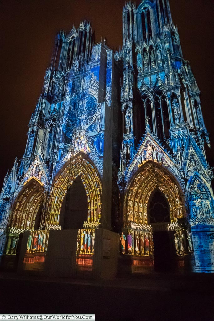 It was built during the 13th-century in French Gothic style and was used for the crowning of several kings. If you are able to visit during the summer months, the cathedral holds an evening sound and light display across the façade and depicts the rich history of Reims, it's impressive to watch.