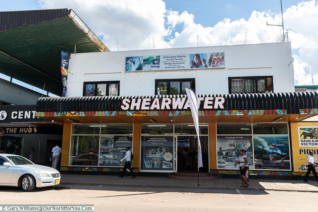 The Shearwater adventure store in Victoria Falls, Zimbabwe
