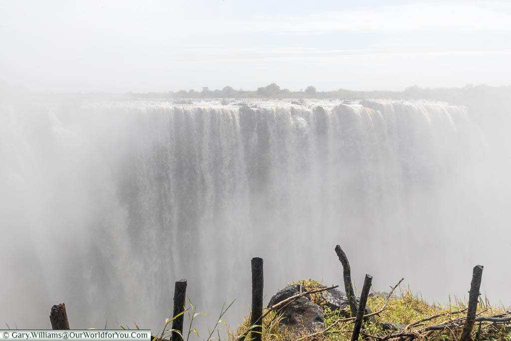 The Victoria Falls and plenty of mist, Zimbabwe, Africa