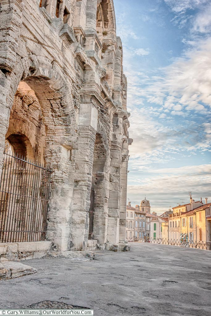 The edge of the amphitheatre in Arles, France