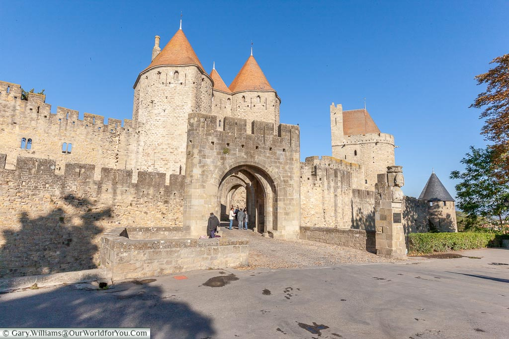 The fortified city of Carcassonne, France