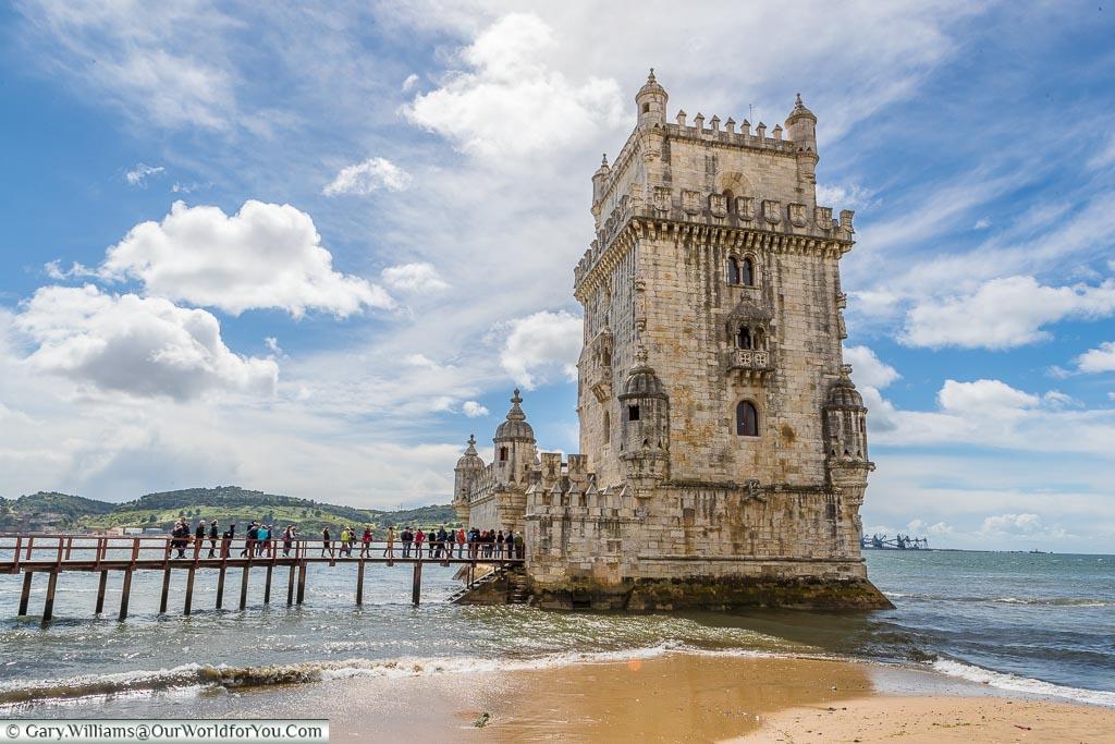 The historic Torre de Belém, UNESCO, Lisbon, Portugal