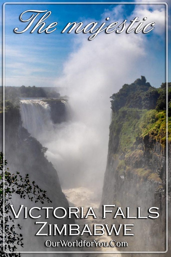 The Pin image for our post - 'The majestic Victoria Falls, Zimbabwe'