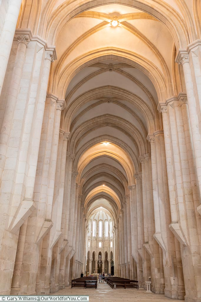 The nave of the Monastery of Alcobaça, UNESCO, Portugal