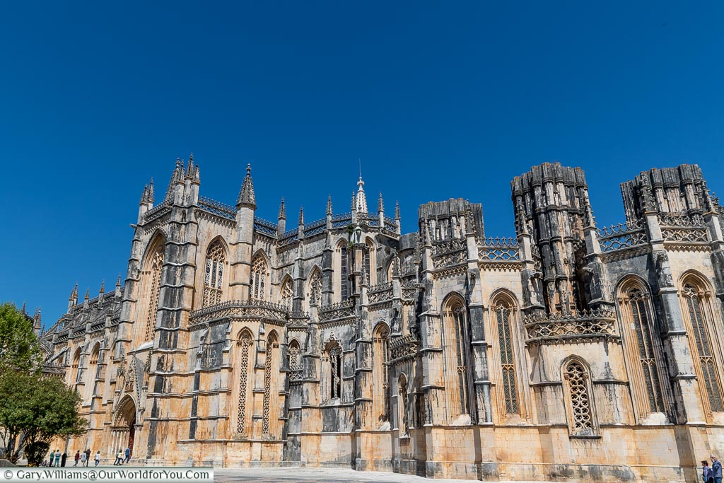 The outside of the Monastery of Batalha, UNESCO, Portugal