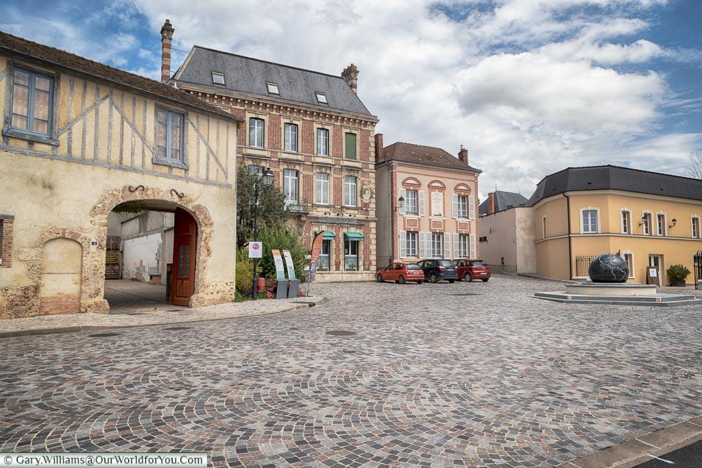 The pretty little town of Ay in the Champagne region, France