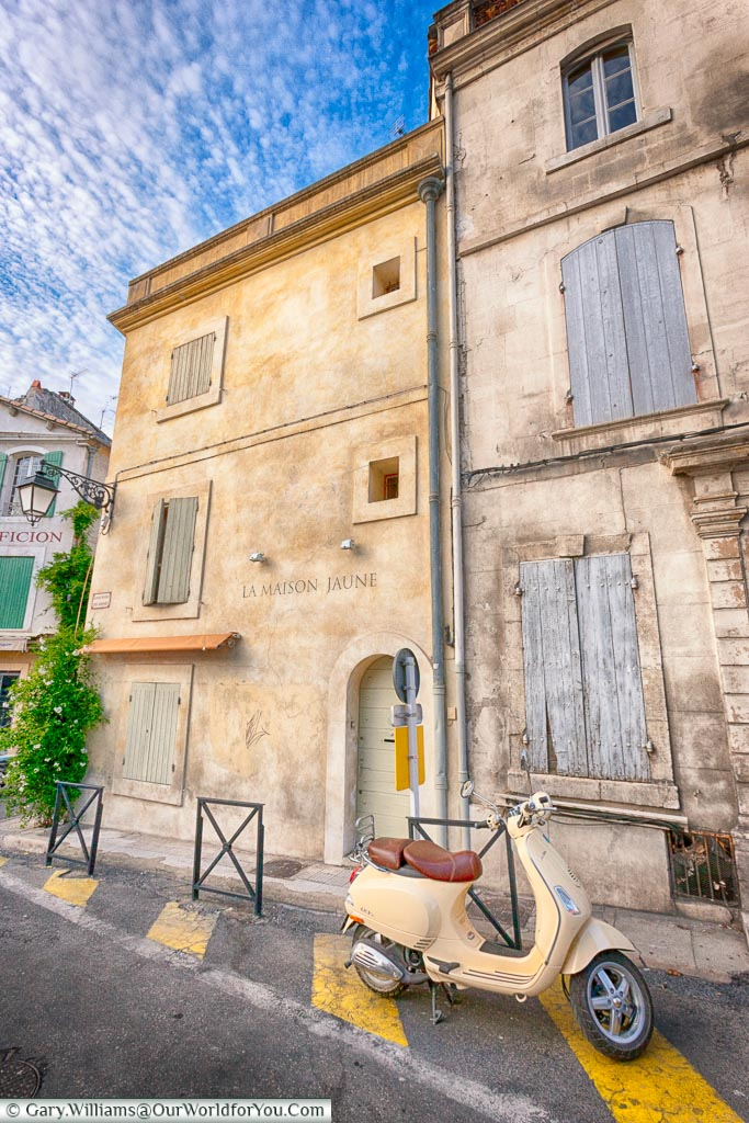 The quiet streets of Arles, Provence, France