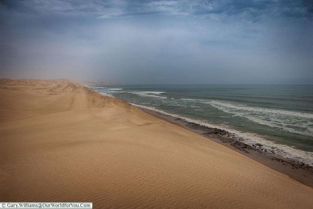 The skeleton coast, Sandwich Bay, Namibia