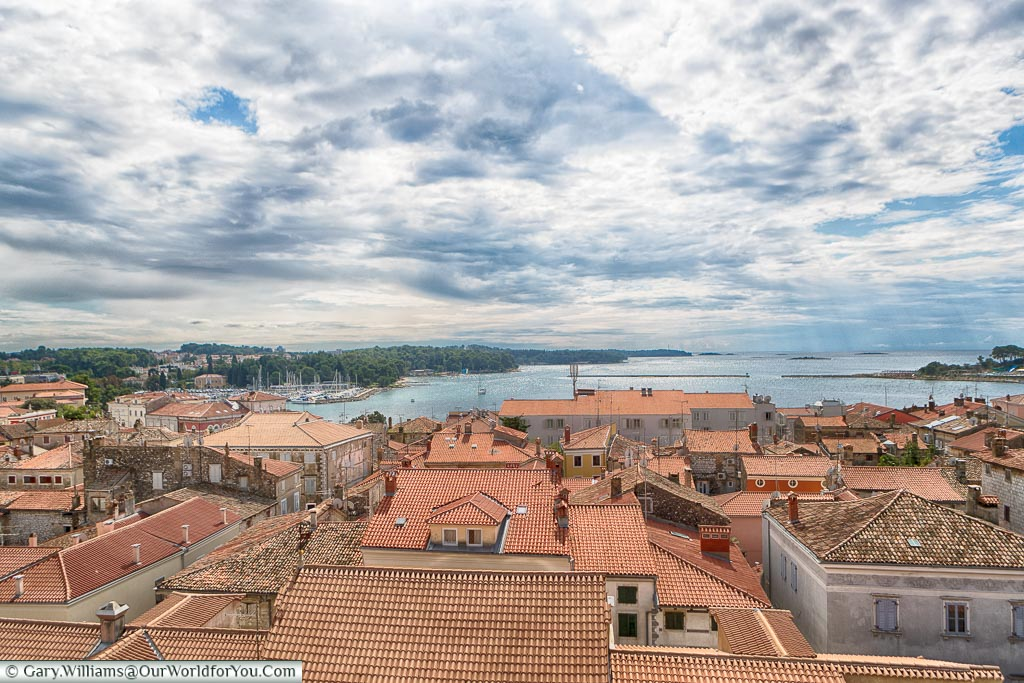 The view from the bell tower, Poreč, Croatia