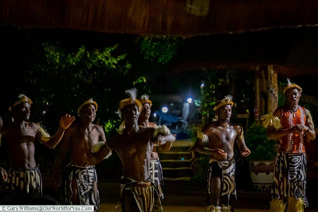 TheEntertainment at the boma at the A'Zambezi River Lodge, Victoria Falls Town, Zimbabwe