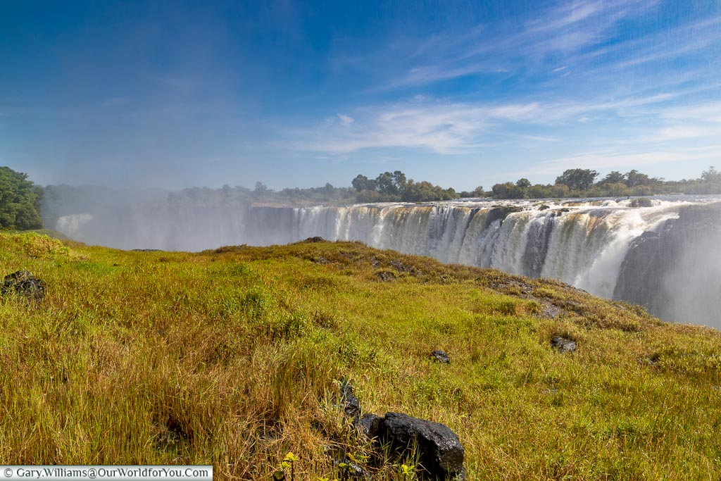 Victoria Falls at High water, Zimbabwe, Africa