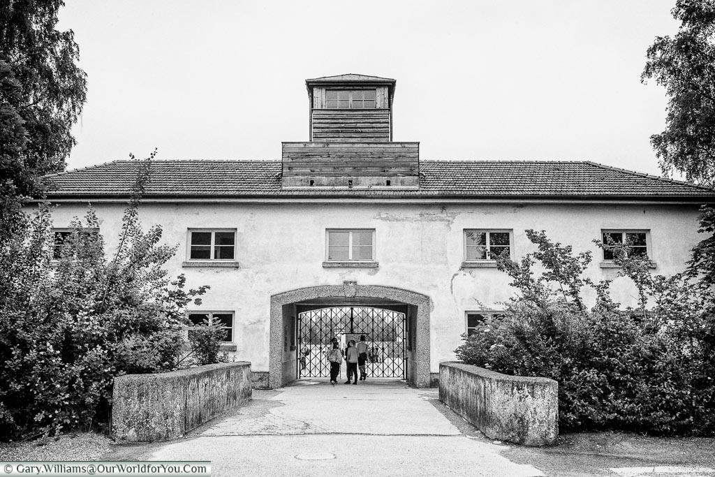The Jourhouse, or main entrance, of the Dachau Concentration Camp, Dachau, Bavaria, Germany
