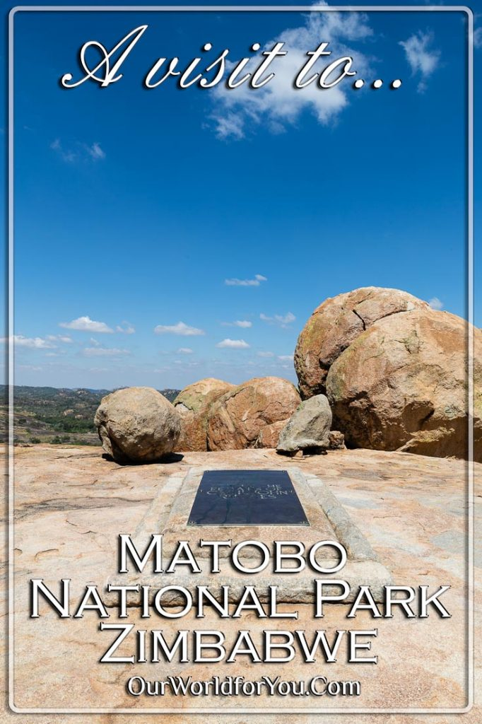 """A Pin image for our post - """"A visit to Matobo National Park, Zimbabwe"""""""