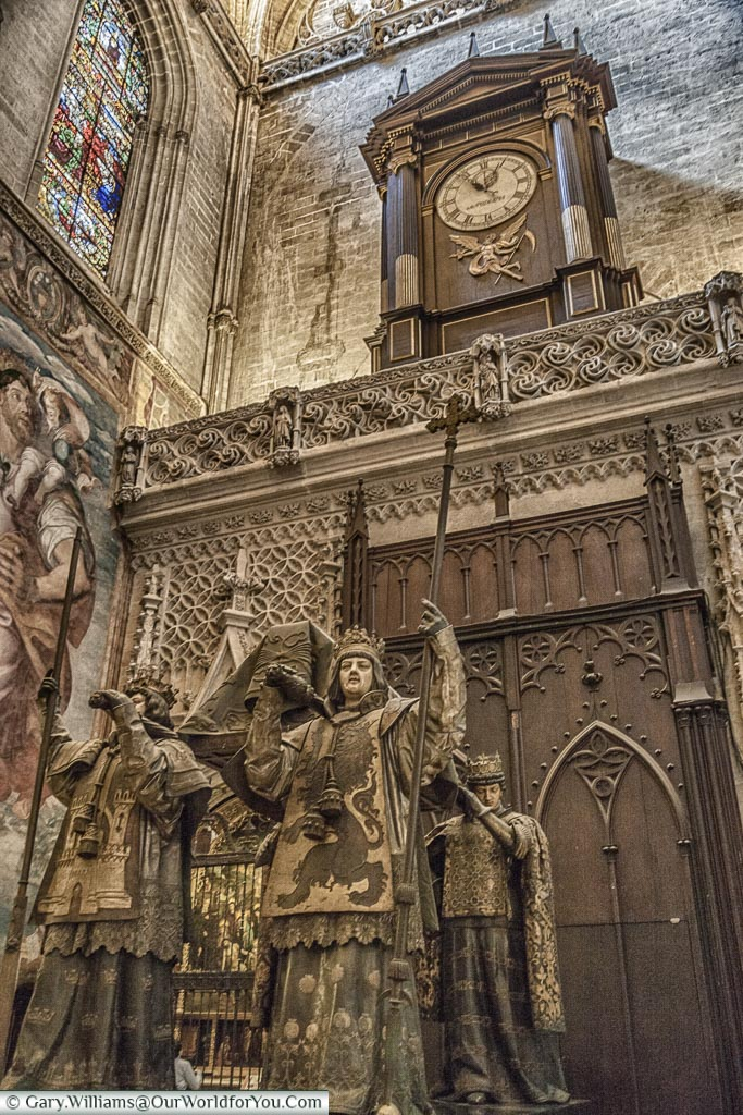 Christopher Columbus's tomb in Seville Cathedral, Seville, UNESCO, Spain