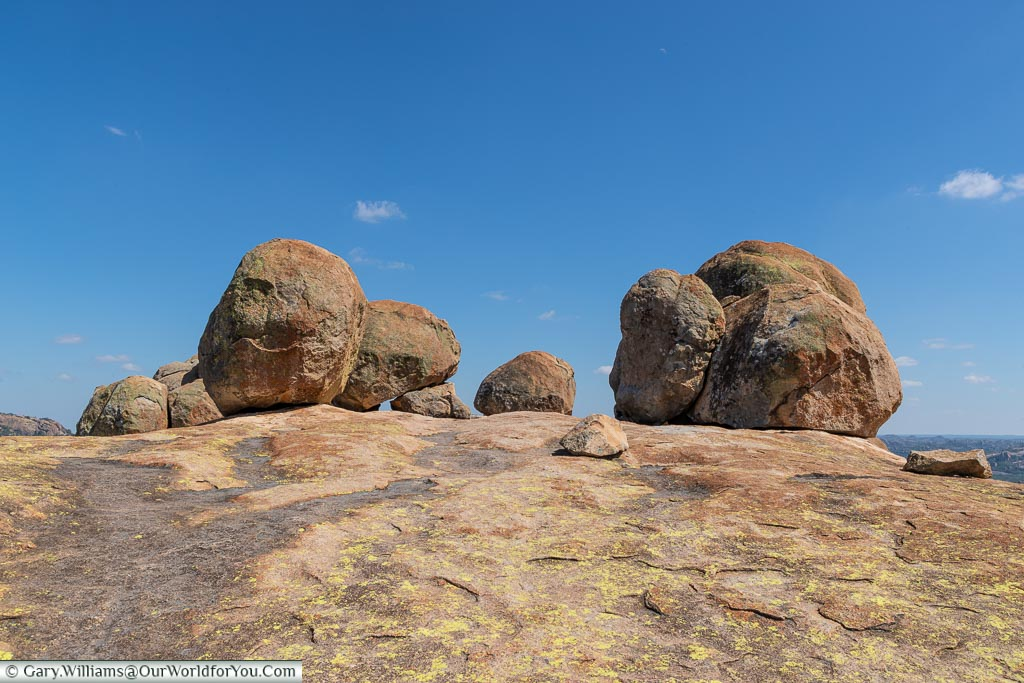 A collection of granite boulders at World's View in Matobo National Park.