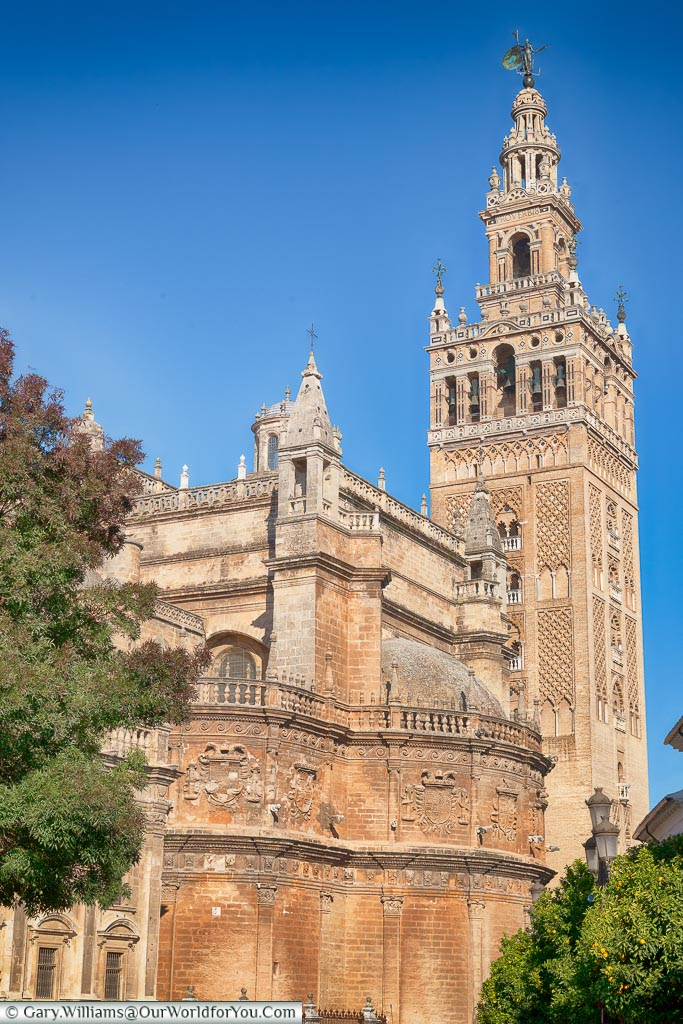 The tower of the cathedral of Seville.