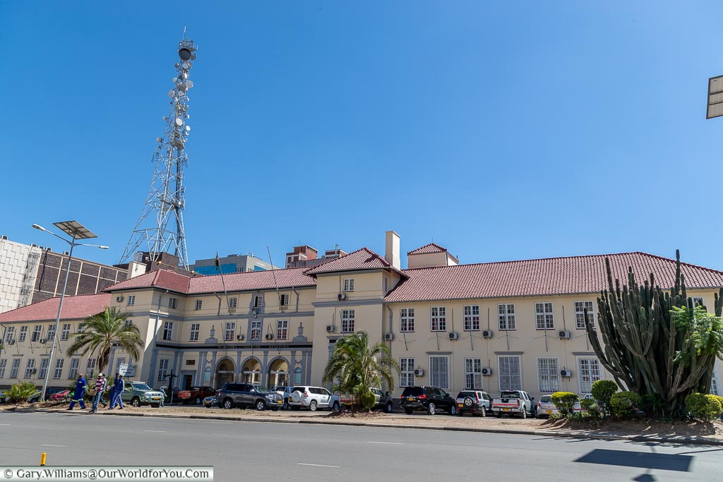 A colonial-era building that was once the Constitutional Court and Supreme Court of Zimbabwe.