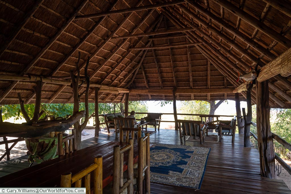 The upper deck of the boma, which is a communal lounge area.