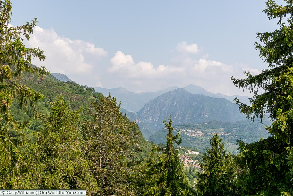 A view over the mountains to the west of Lake Garda