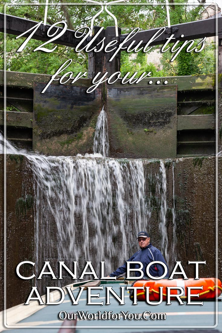 The Pin image of our post -'12 Useful tips for your canal boat adventure'