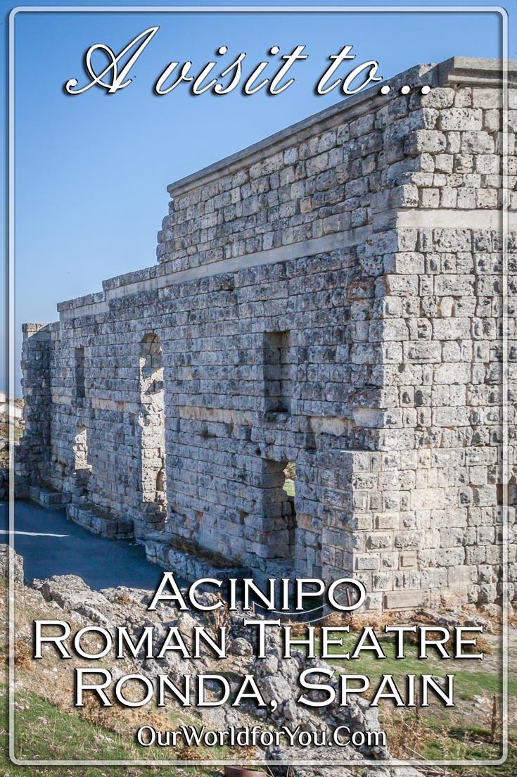 The Acinipo Roman Theatre, Ronda, Spain