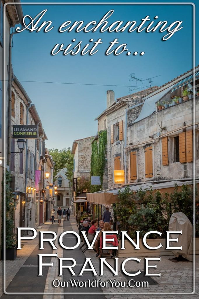 A Pin image for our post - 'An enchanting visit to Provence, France'
