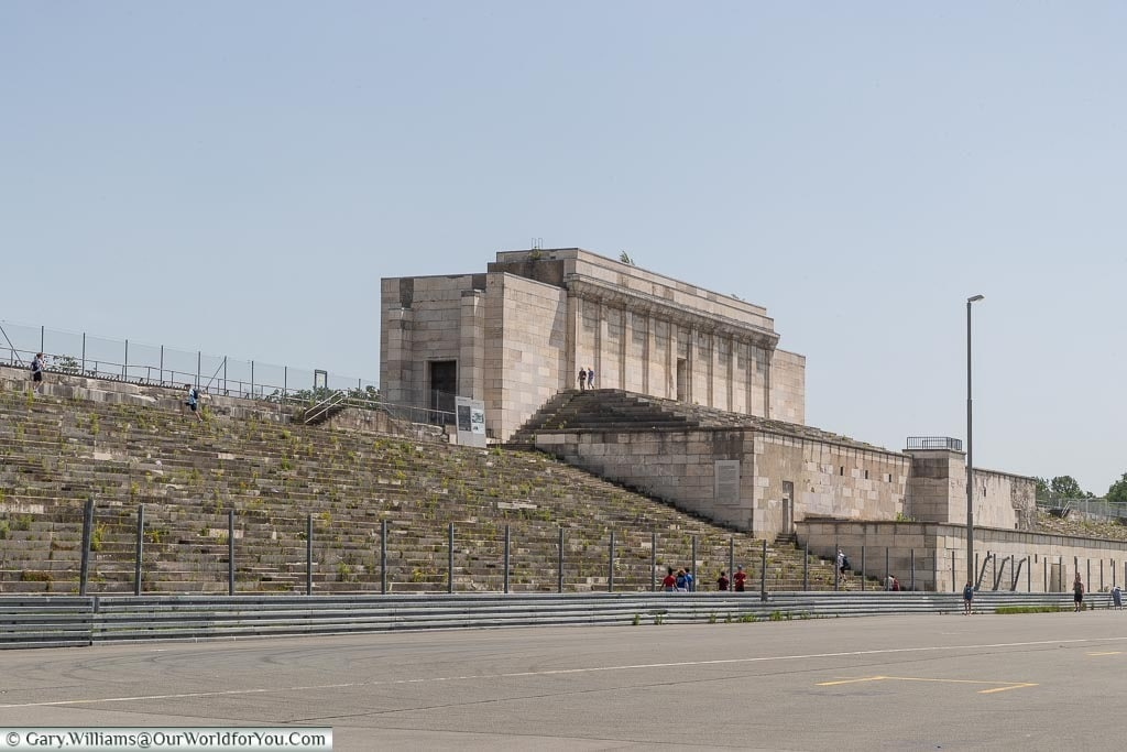 The centre section of the Nazi Party Zeppelinfeld Grandstand.