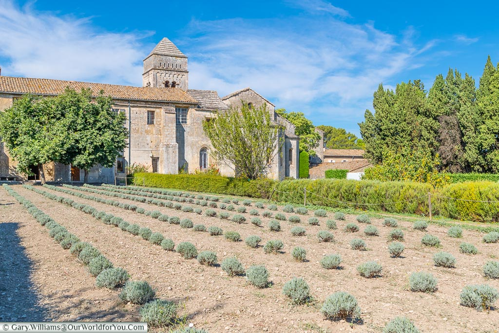 Looking across the gardens to the Monastery Saint-Paul de Mausole that was briefly home to Vincent van Gogh.