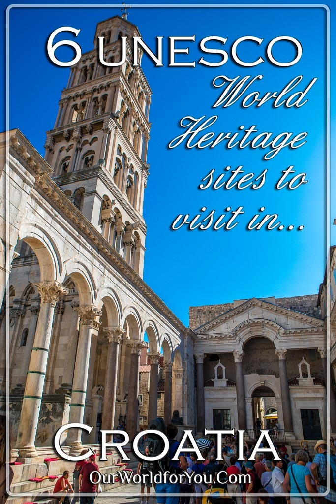 The Pin image for our post '6 UNESCO World Heritage sites to visit in Croatia'
