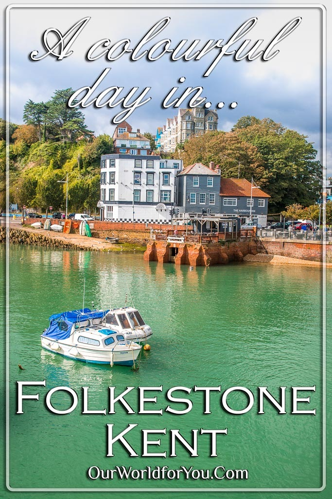 The pin for our post - 'A colourful day in Folkestone, Kent'