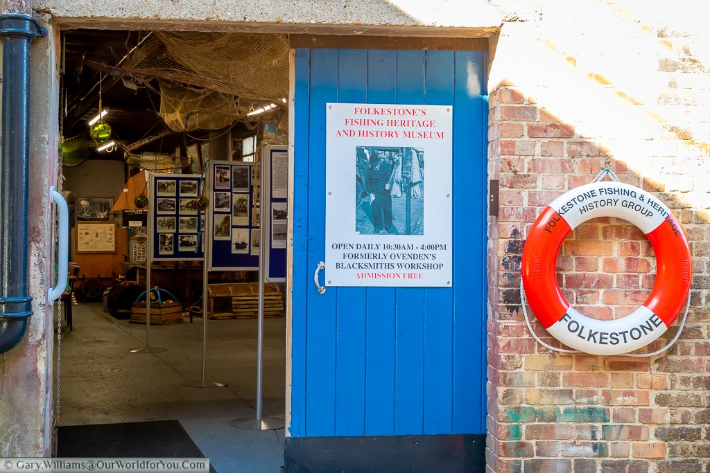 Outside the Folkestone's Fishing Heritage and History Museum looking in.