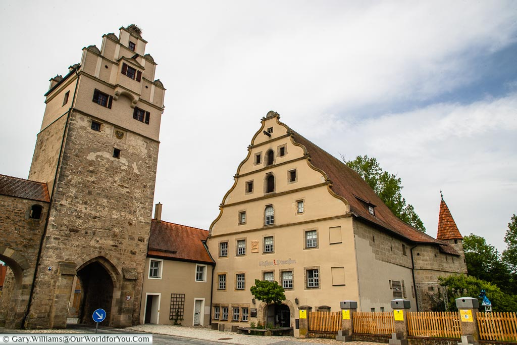 Another of the cities gates in the base of the Nördlinger Tor next to a city museum.