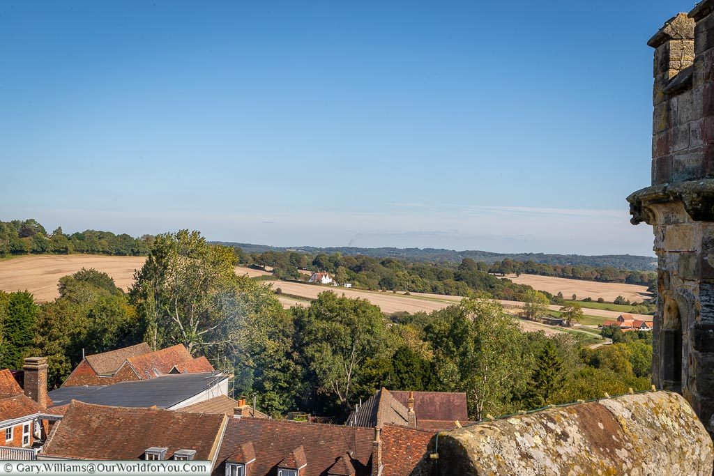 The view to the east from the roof of the Great Gatehouse.