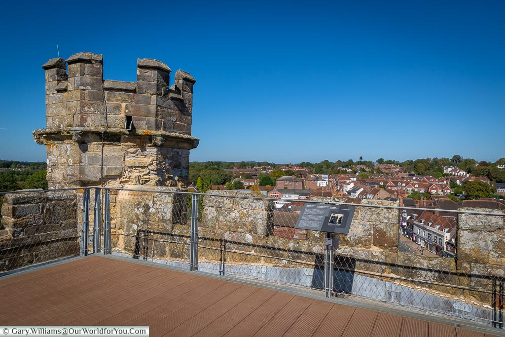 The view over the town of battle from the roof of the Great Gatehouse.