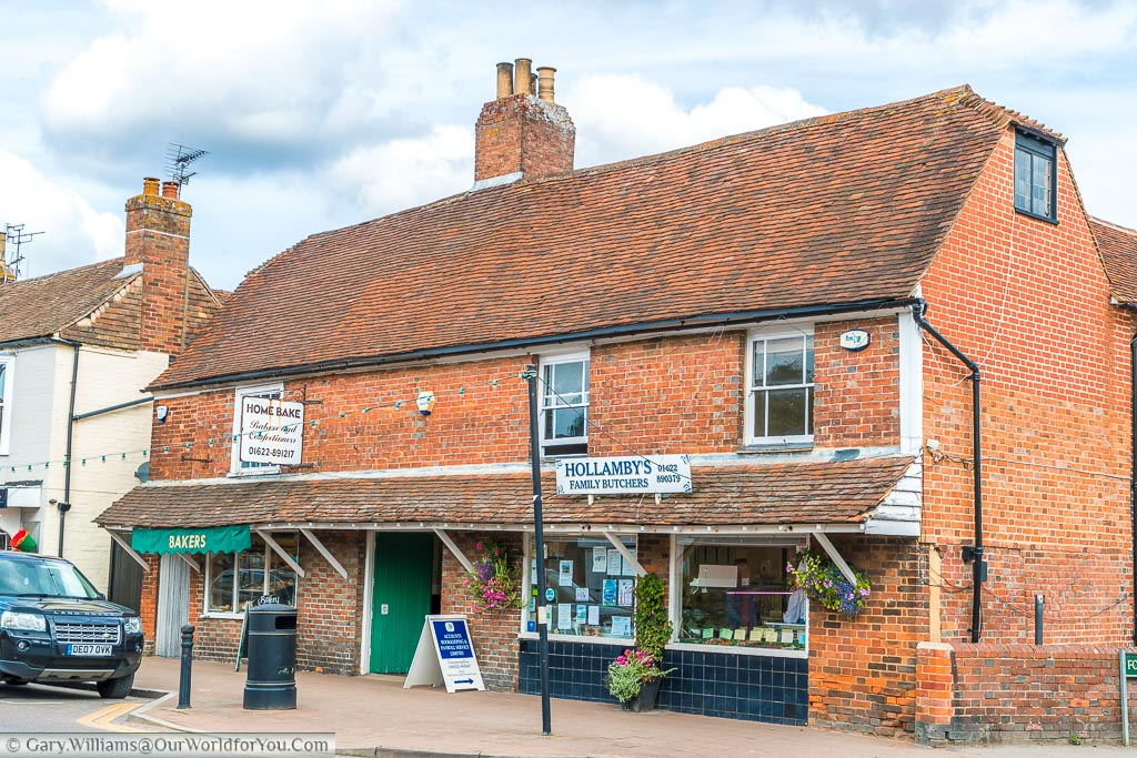 A traditional butchers next to a traditional bakers on the High Street in Headcorn