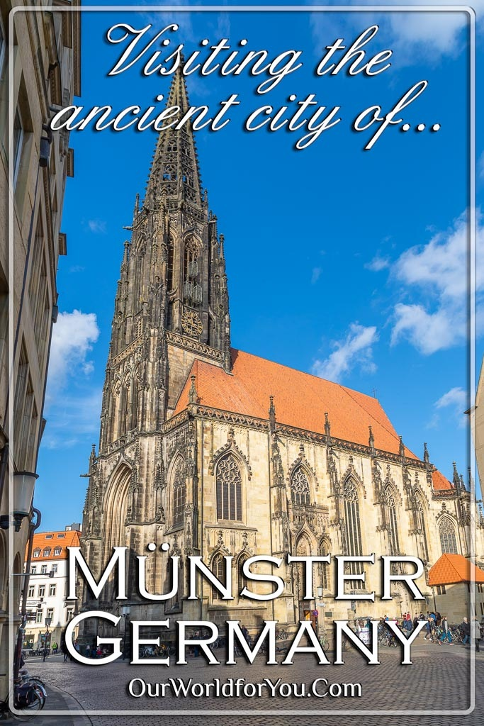 The Pin image of our post - 'Visiting the ancient city of Münster in Germany'