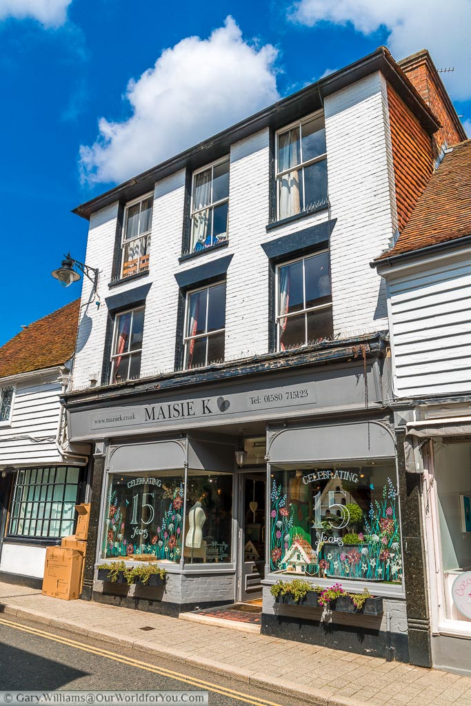 A quirky little shop in Cranbrook High Street.