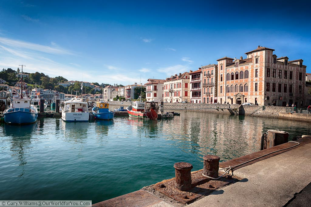 The Harbour of Saint Jean-de-Luz in late afternoon when the fishing boats have returned for the day
