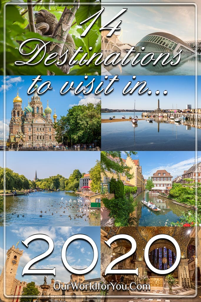 The Pin Image from our post - '14 Destinations to visit in 2020'