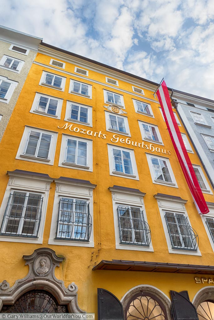 Mozarts birthplace in central Salzburg
