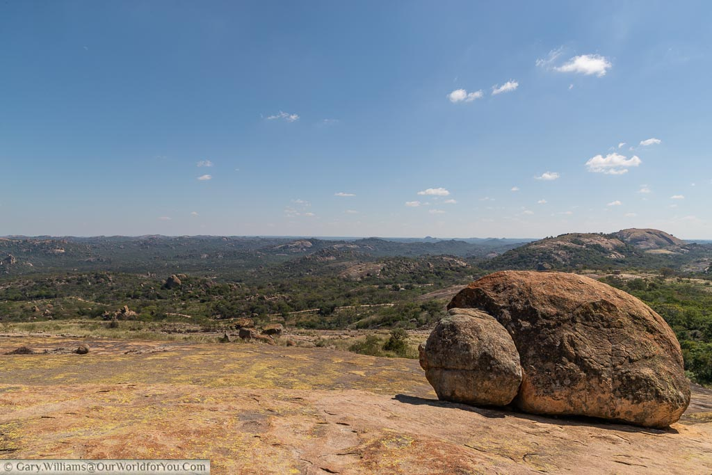 A view over Matobo National Park from World's View.