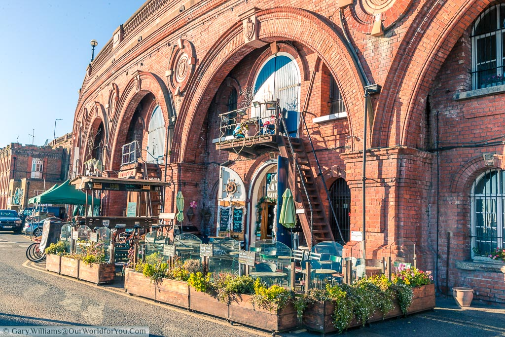 An artisan cafe set within the red brick arches that line Ramsgate's Harbour front